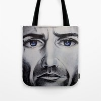 be brave Tote Bags featuring BRAVE by John McGlynn