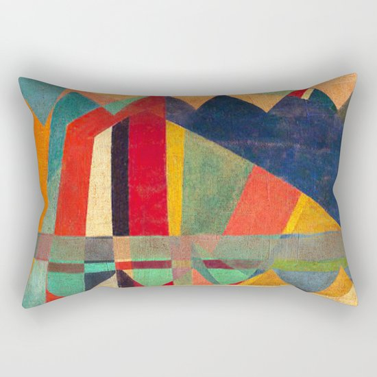 The Road, The Mountain and The River Rectangular Pillow