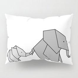 Origami Baby Elephant Pillow Sham