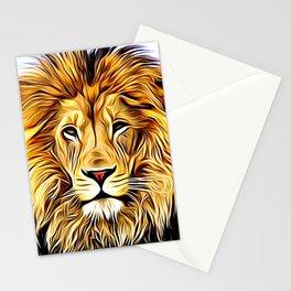 Lion head digital art Stationery Cards
