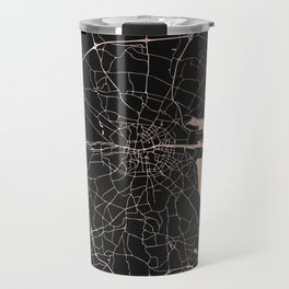 Black on Rosegold Dublin Street Map Travel Mug