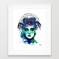 cancer Framed Art Prints featuring Cancer by Gabi Xavier