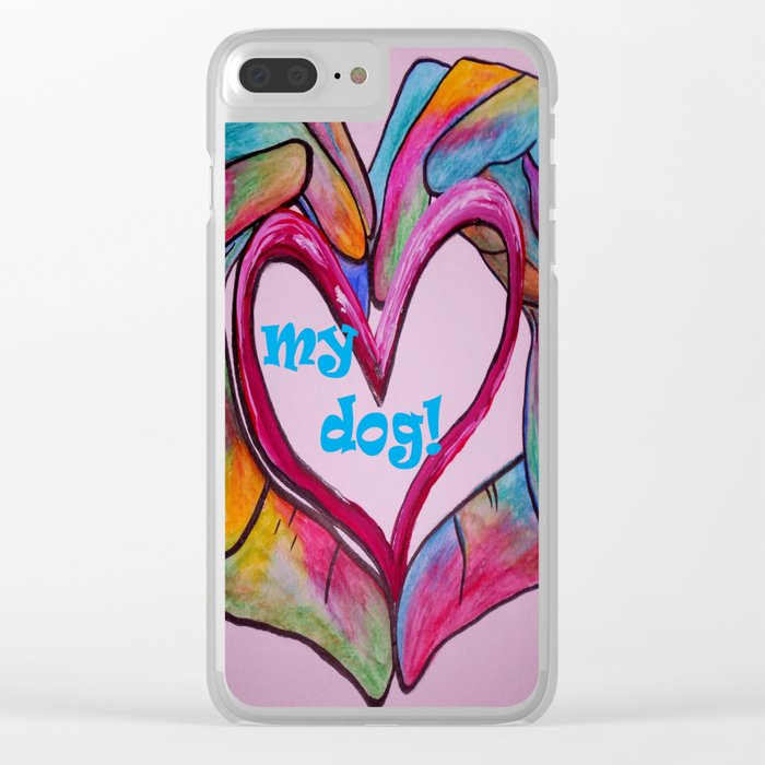 I Heart my Dog Clear iPhone Case