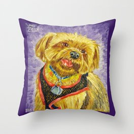 One Tooth Smile Throw Pillow