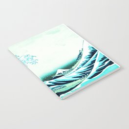 the great wave : aqua teal Notebook