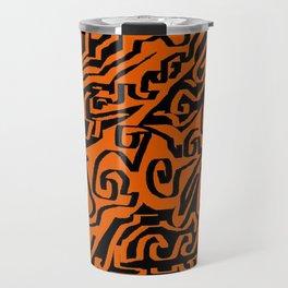 Laberinto ocre black Travel Mug