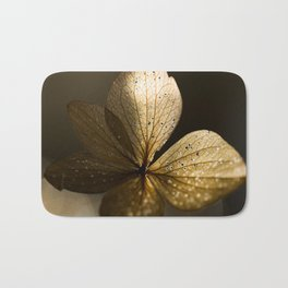 Autumn Scene - Dry Petals with Golden Sunset Light #decor #society6 #buyart Bath Mat