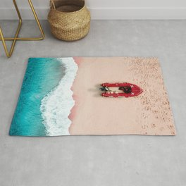 Surf Rescue | Aerial Photography  Rug