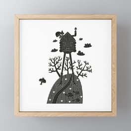 fairy house in the forest Framed Mini Art Print