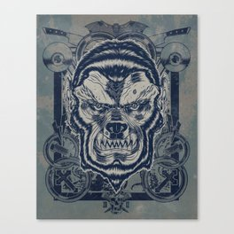 Classic Monsters Series: Wolfy Canvas Print