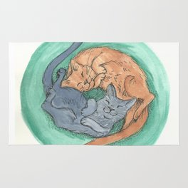 Lazy Cats - Watercolor Rug