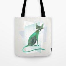 Mid-Century Feline Tote Bag