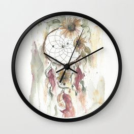 Dream catcher in earthy tones Wall Clock