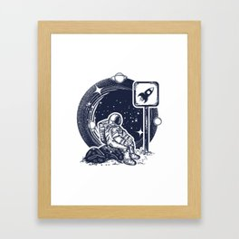 Astronaut in space Framed Art Print