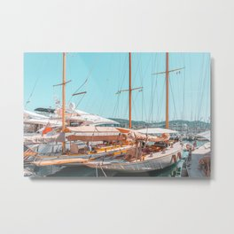 Luxurious Yachts And Boats In Cannes, Travel Print, Cannes Harbor And Port, French Riviera, Mediterranean Sea, Luxury Living, Home Decor, Summer Holiday Wall Art Print, Yacht Poster Metal Print