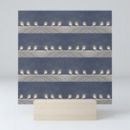 Wagtail chicks Mini Art Print
