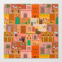 Marrakesh: The Red City Canvas Print