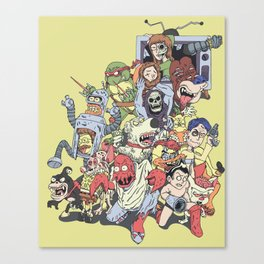 Revenge of the mixed up toons that were at some point cancelled Canvas Print
