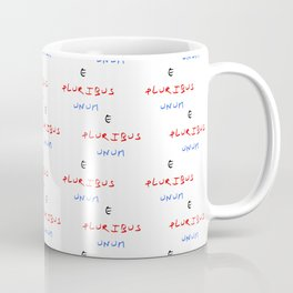 Motto of USA. E pluribus unum. Coffee Mug