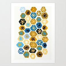 Retro Pattern Art Print