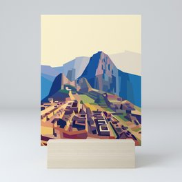 Geometric Machu Picchu, Peru Mini Art Print
