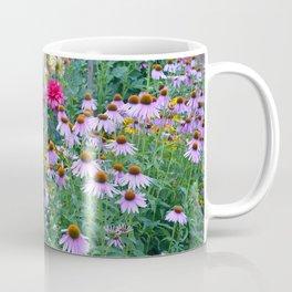 Dahlias and echinacea garden Coffee Mug