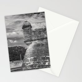 Castillo de San Marcos - black and white Stationery Cards