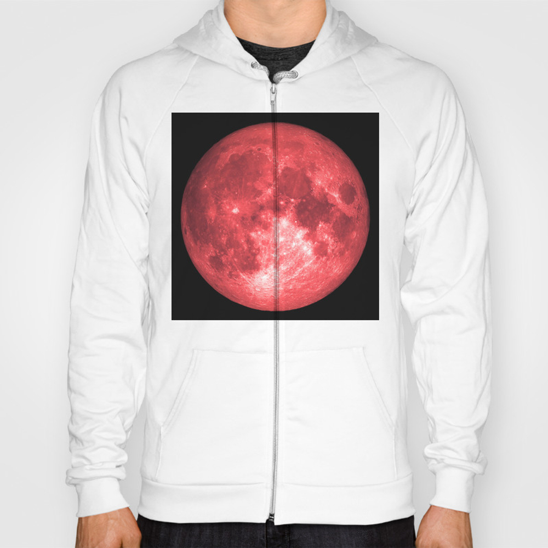 Red Full Moon Hoody by Reshataliyev SSR8631806
