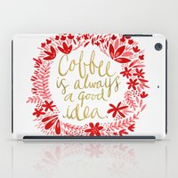 coffee iPad Cases featuring Coffee by Cat Coquillette