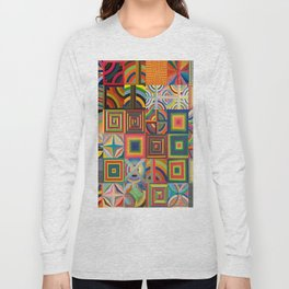 Frank Stella Montage Long Sleeve T-shirt