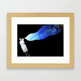 audrey in space Framed Art Print