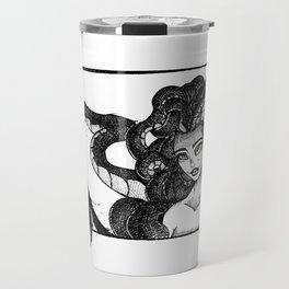 Beckon (line only, transparent, 3700x5100) Travel Mug