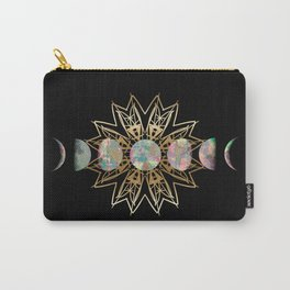 Opal Moon and Gold Stars Carry-All Pouch