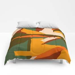 A New Way Of Seeing Abstract Landscape Comforters