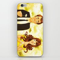 pushing daisies iPhone & iPod Skins featuring Pushing Daisies by AngHuiQing