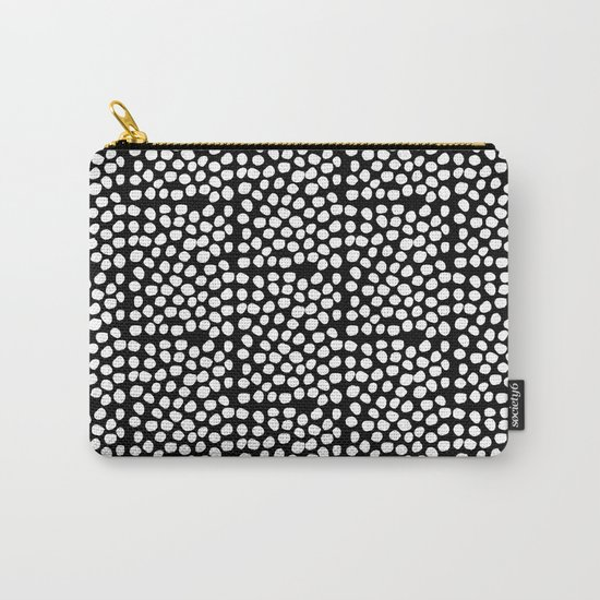 Bryan - black and white minimal dots polka dots cell phone iphone6 case trendy urban brooklyn minima Carry-All Pouch