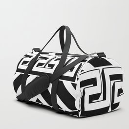 PLAIN BLACK AND WHITE MODERN ART ABSTRACT DESIGN Duffle Bag