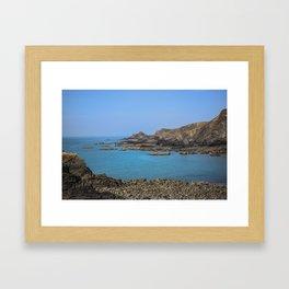 Devon Coastline. Framed Art Print