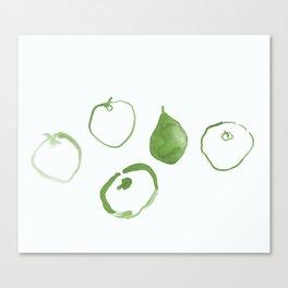 Pommes - Olive Canvas Print
