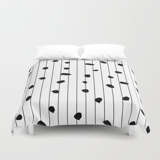 Dots and lines Duvet Cover