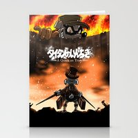 attack on titan Stationery Cards featuring A Quack on Titan by ADobson