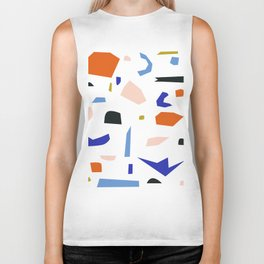 Shapes Pattern Biker Tank