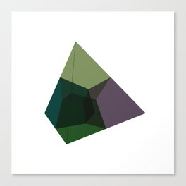 #136 Tesseract (projected into 3D space) – Geometry Daily Canvas Print
