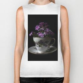 Botanical Tea Cup Biker Tank