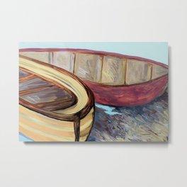 Boats on the Bank Metal Print