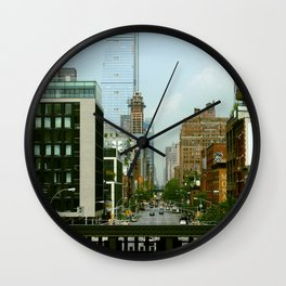 Traffic in Manhattan Wall Clock