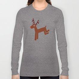 Reindeer-Green Long Sleeve T-shirt