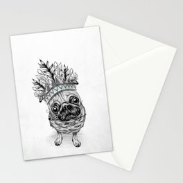 Indian Pug Stationery Cards