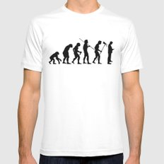 Evolution to Mobile  Mens Fitted Tee MEDIUM White