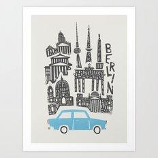 Berlin Cityscape Art Print